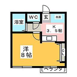 インペリアル ミヤジリ[2階]の間取り