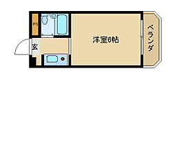 プリエール名神尼崎[4階]の間取り