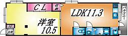 兵庫県神戸市灘区寺口町の賃貸マンションの間取り