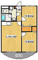 メイプルガーデンA[2階]の間取り