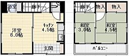 [一戸建] 東京都足立区関原3丁目 の賃貸【/】の間取り