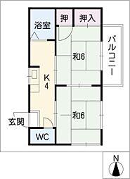 タウニー藤一B[2階]の間取り