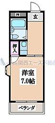 菱屋西ロイヤル[3階]の間取り
