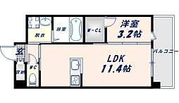 フェニックスクローブトモイ 6階1LDKの間取り