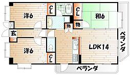 ラ・セーヌ タイヨー[1階]の間取り