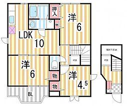 シャンドフルール2[2階]の間取り