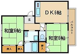 兵庫県伊丹市柏木町2丁目の賃貸アパートの間取り