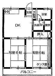 コーポ香山[1階]の間取り