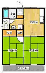 セジュール吉田[2階]の間取り