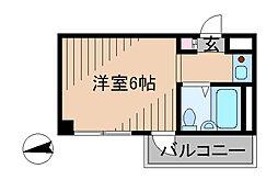 神奈川県横浜市港北区日吉3丁目の賃貸マンションの間取り