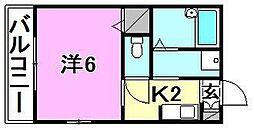 セジュール・シマ[201 号室号室]の間取り