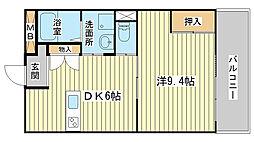 カリヨン三蔵田[304号室]の間取り