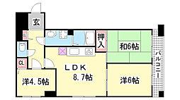 神戸中央1番館ハウス[602号室]の間取り