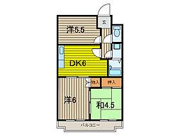 トーワ東浦和9104[3階]の間取り