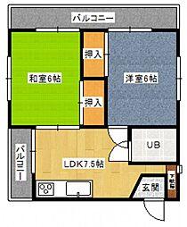 ポニーマンション[3階]の間取り