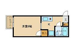 兵庫県尼崎市長洲本通3丁目の賃貸アパートの間取り