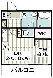 JR京浜東北・根岸線 大船駅 徒歩1分の賃貸マンション 3階1DKの間取り