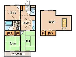 ハイツアイリスK[2階]の間取り