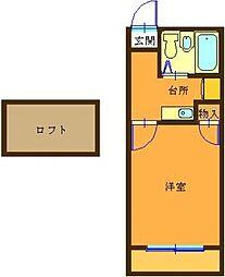 アリス深谷4号館[1階]の間取り