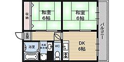 大阪府大阪市北区大淀中2丁目の賃貸マンションの間取り