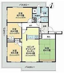 ライオンズマンション下永谷[2階]の間取り