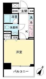 東京都渋谷区笹塚2丁目の賃貸マンションの間取り