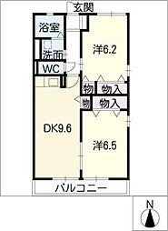 リバーサイド6[2階]の間取り