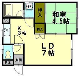 若松2丁目アパート[1階]の間取り