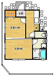 Tendai Villa[101号室]の間取り