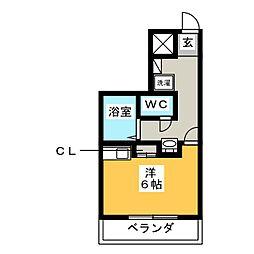 シティマンション大橋南 NO.10[2階]の間取り