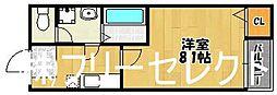 クレフラスト清水B棟[1階]の間取り