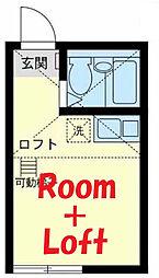 神奈川県横浜市旭区白根8丁目の賃貸アパートの間取り