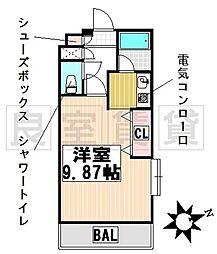 愛知県名古屋市千種区御棚町2丁目の賃貸マンションの間取り