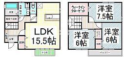 [一戸建] 長野県長野市西和田1丁目 の賃貸【/】の間取り