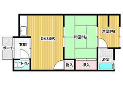 [一戸建] 大阪府柏原市国分本町7丁目 の賃貸【/】の間取り