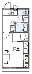 レオパレスM−1[1階]の間取り