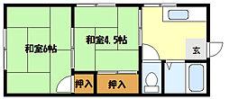 兵庫県神戸市東灘区魚崎西町3丁目の賃貸アパートの間取り