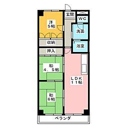 メゾン大殿[3階]の間取り