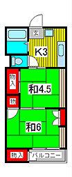 丹野マンション[3階]の間取り