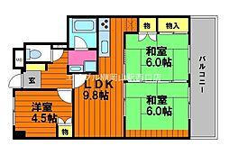 大学町パークマンション[5階]の間取り