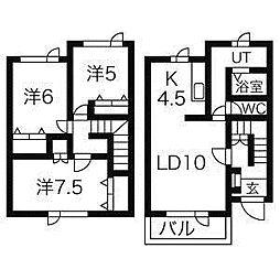 ロカテール[1階]の間取り
