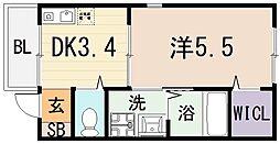 仮)桜ヶ丘アパート[2階]の間取り