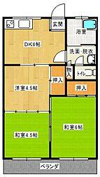 長友平四郎アパート[7号室号室]の間取り