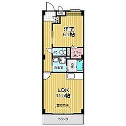 愛知県名古屋市緑区尾崎山2丁目の賃貸マンションの間取り
