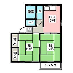 シティハイムヤナギハラ[2階]の間取り