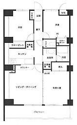 アーウィン戸塚ヒルズ[6階]の間取り