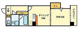 コンフォート松ヶ枝町II[5階]の間取り