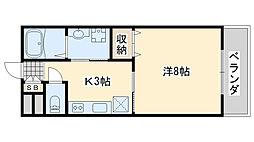 TABIYADO SENNAN 1階1Kの間取り