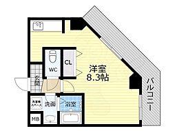 TOYOTOMI STAY PREMIUM 天王寺公園南3 10階1Kの間取り