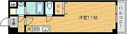 Osaka Metro谷町線 関目高殿駅 徒歩5分の賃貸マンション 2階ワンルームの間取り